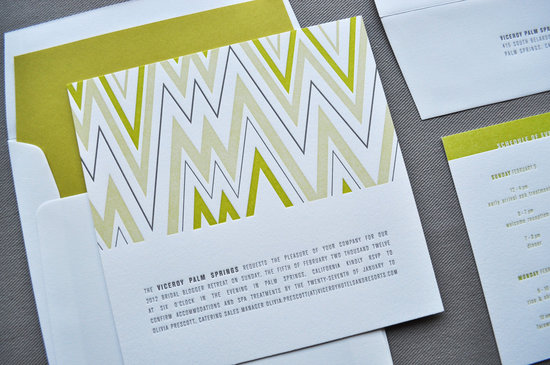 chevron wedding inspiration wedding decor details for the reception letterpress invitations