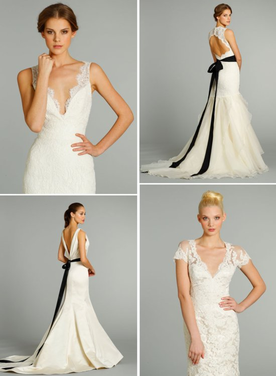 elegant fall 2012 wedding dresses by Jim Hjelm
