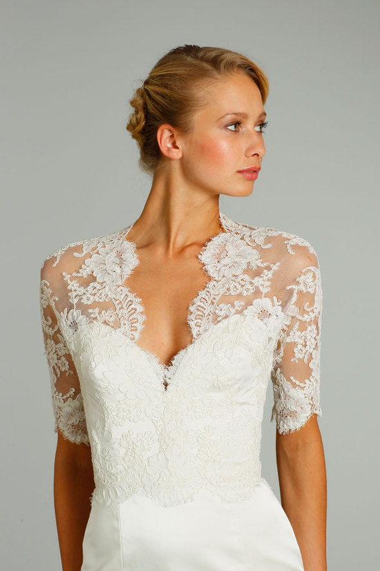 fall 2012 wedding dress Jim Hjelm bridal gowns 8256 detail