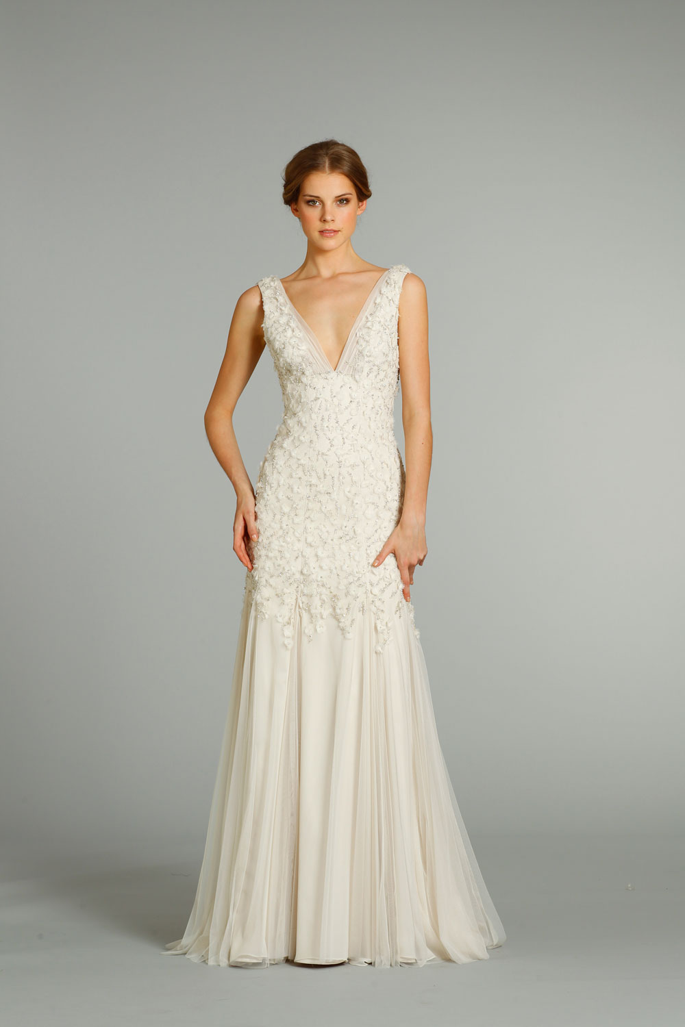 Fall 2012 wedding dress jim hjelm bridal gowns 8265 for Jim hjelm wedding dresses