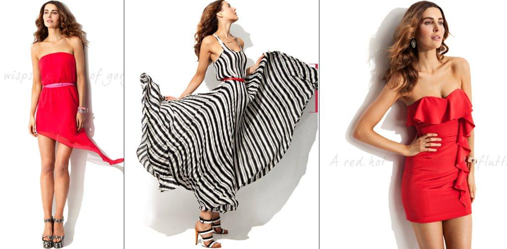 Havana-nights-wedding-theme-red-black-white-bridesmaid-dresses.full