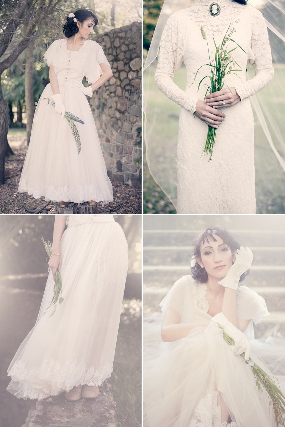 romantic wedding inspiration vintage inspired bridal style