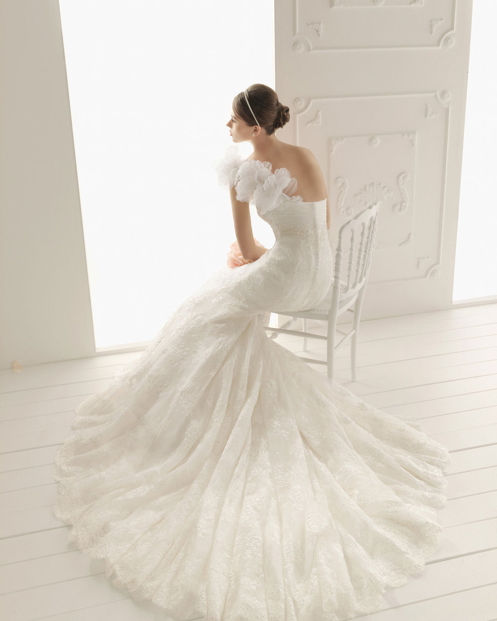 2013 wedding dress Aire Barcelona bridal gowns rain