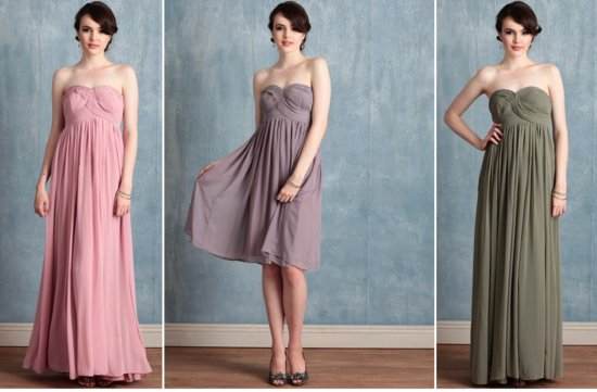 ruche bridesmaids dresses afforadable stylish bridal party attire 1