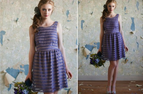 Ruche bridesmaids dresses stylish bridal party attire pretty purple