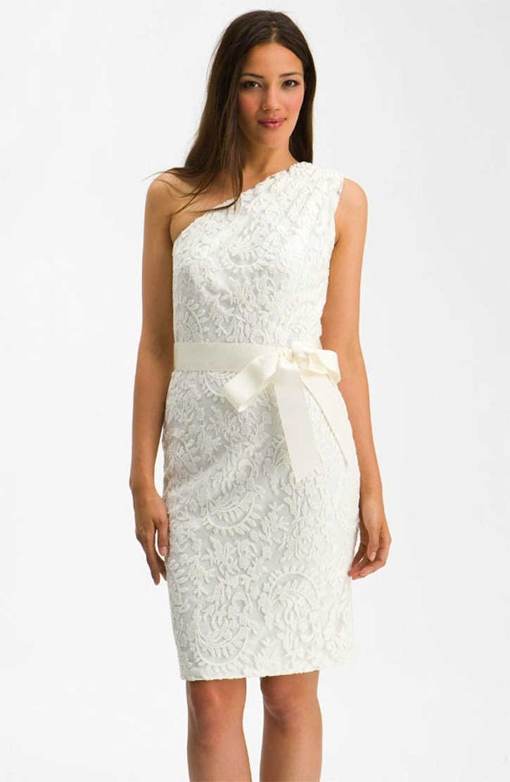 Tadashi shoji lace lwd short wedding dresses for the for Nordstrom short wedding dresses