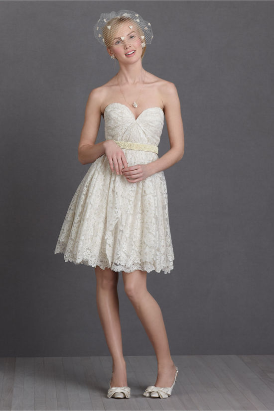 little white wedding reception dresses romantic LWD from BHLDN 1