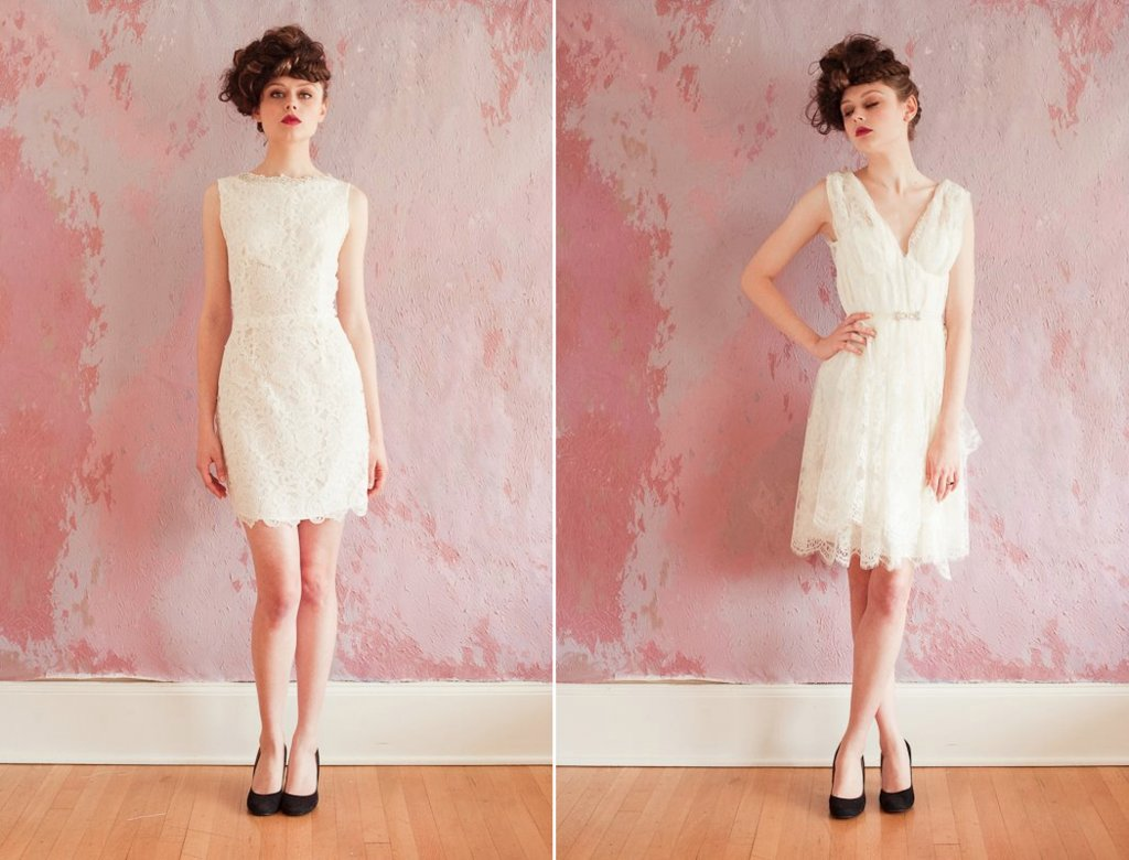 lace LWDs for the wedding reception short wedding dresses SS 2