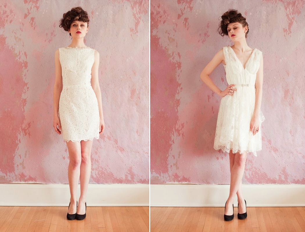 lace LWDs for the wedding reception short wedding dresses