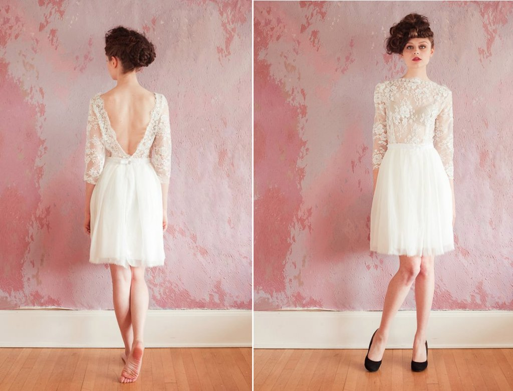 Lace LWDs for the wedding reception short wedding dresses SS 1