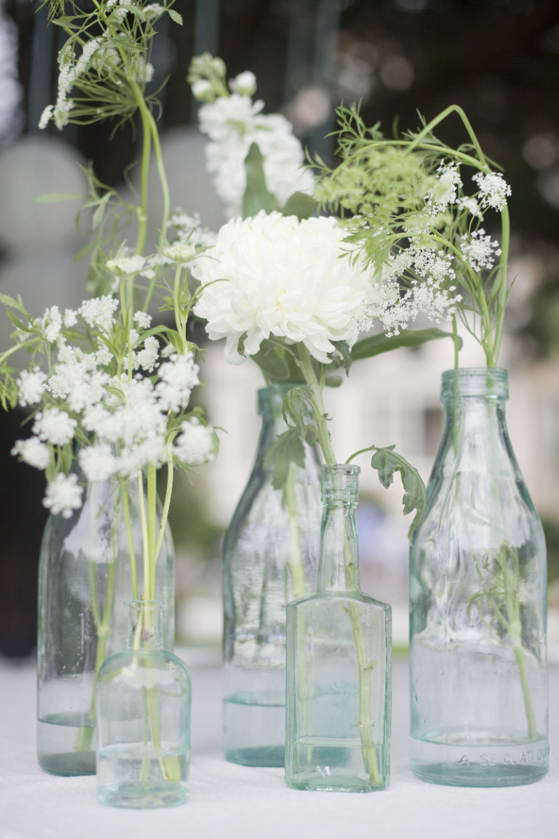 Queen annes lace mason jar centerpieces onewed
