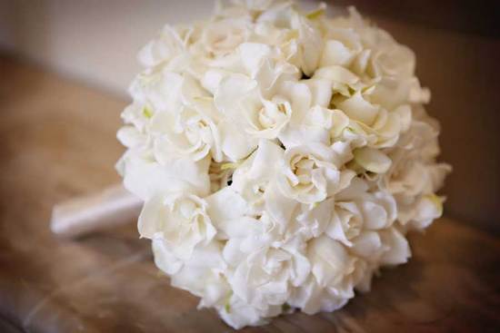 white gardenia bridal bouquet
