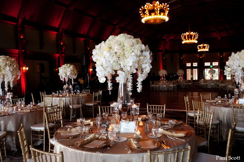 Love this! 10 white wedding flowers we love elegant orchid reception centerpiece #Flowers