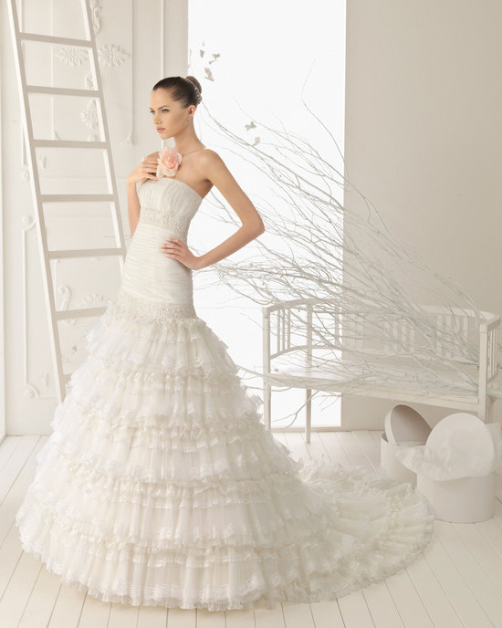 2013 wedding dress Aire Barcelona bridal gowns roque