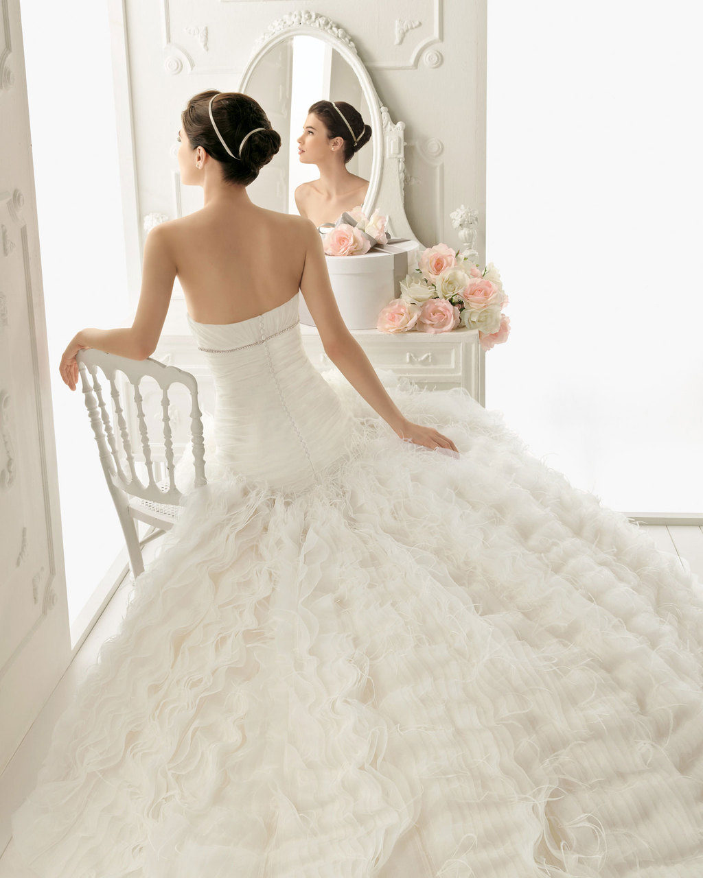 2013 wedding dress Aire Barcelona bridal gowns rusia