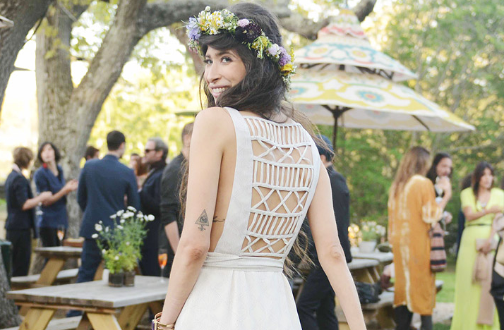Celebrity-wedding-simple-bohemian-vibe-statement-back-wedding-dress.original