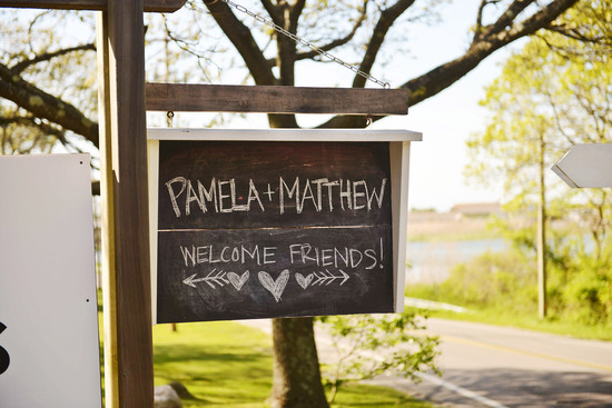 celebrity wedding inspiration bohemian romance real wedding chalkboard sign