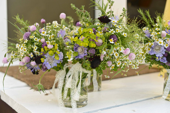 celebrity wedding inspiration bohemian romance real wedding green lilac centerpieces