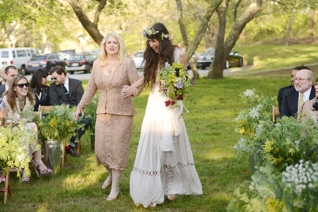 ec837b5b36 celebrity wedding inspiration bohemian romance real wedding bride walks  down aisle