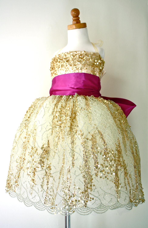 Magenta Pink Flower Girl Dresses Discount Wedding Dresses