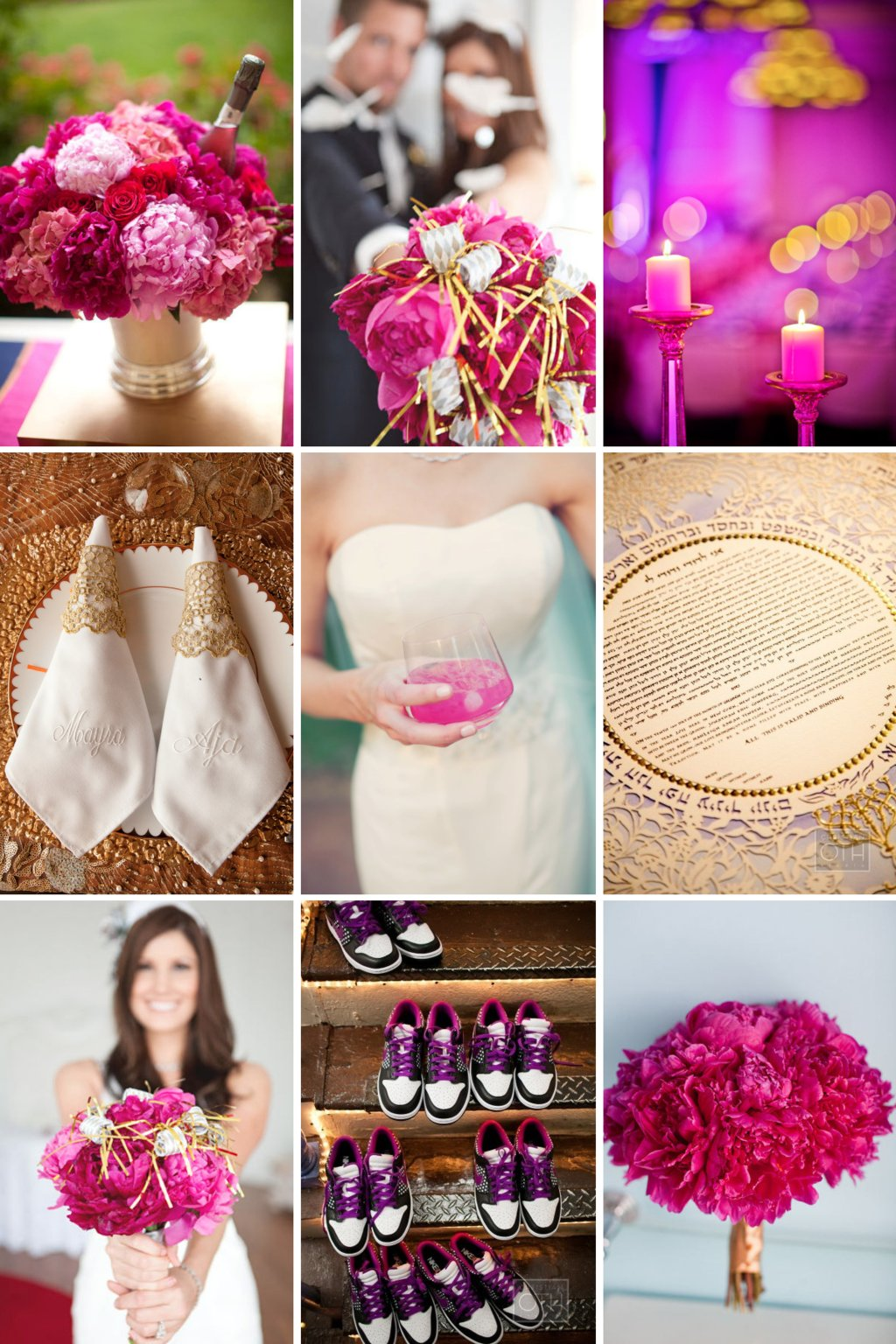 Gold-and-magenta-wedding-inspiration-elegant-wedding-decor.full