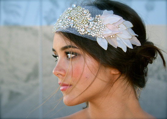 elegant wedding jewelry custom bridal bling accessories vintage inspired headpiece