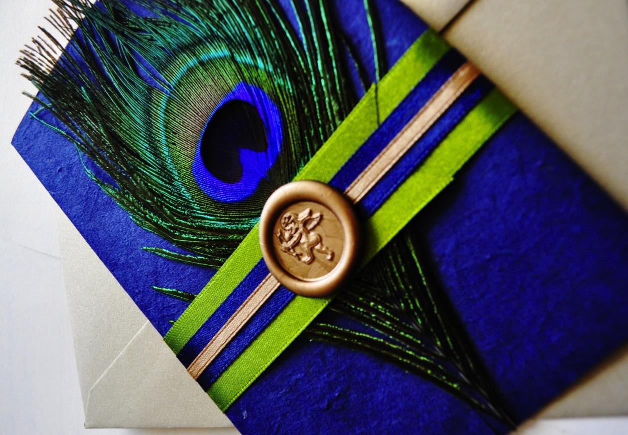 Elegant Peacock Wedding Invite Onewed Com