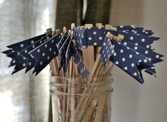wedding color inspiration navy blue bridal wedding finds polka dot drink stirs