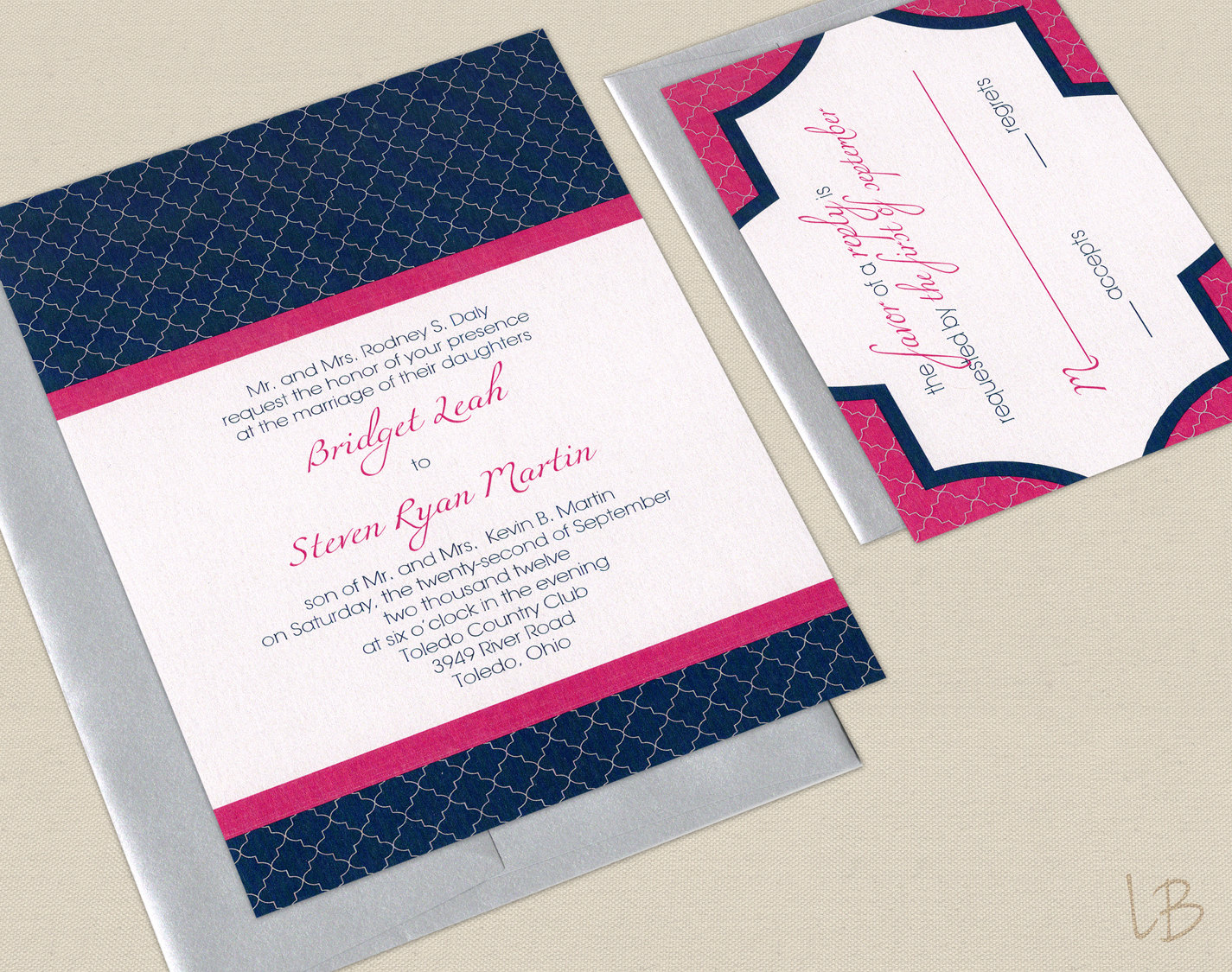 Pink And Navy Blue Wedding Invitations: Wedding Color Inspiration Navy Blue Bridal Wedding Finds
