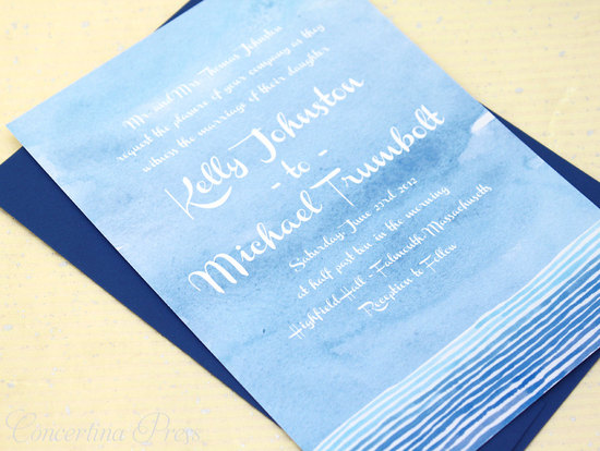 wedding color inspiration navy blue bridal wedding finds watercolor invitation
