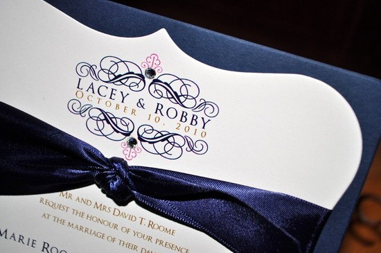 wedding color inspiration navy blue ceremony reception finds elegant invitation 2