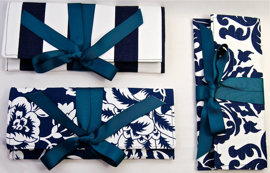 wedding color inspiration navy blue ceremony reception finds assorted bridesmaid clutches