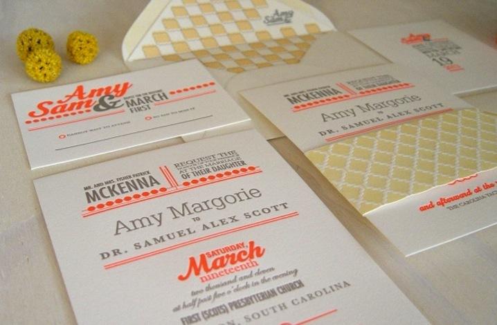 Letterpress-wedding-invitation-inspiration-stationery-orange-gray-yellow.full