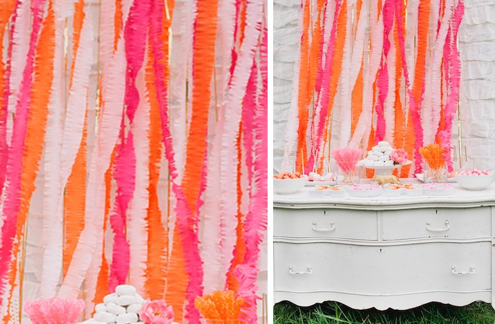 Summer-wedding-diy-ideas-bright-backdrop-orange-pink.full