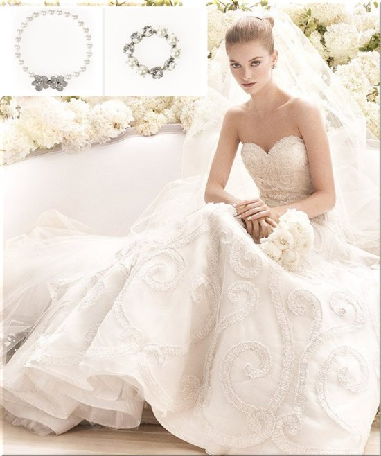 photo of Oscar de la Renta bridal accessories