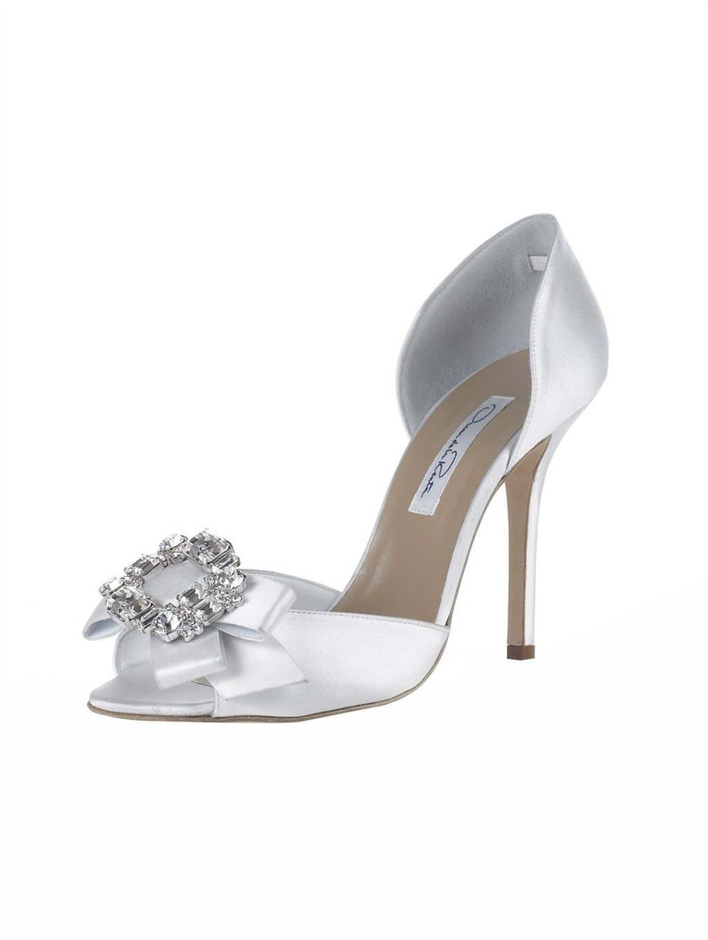 oscar de la renta wedding shoes bridal shoes oscar de la renta wedding heels white satin 6314