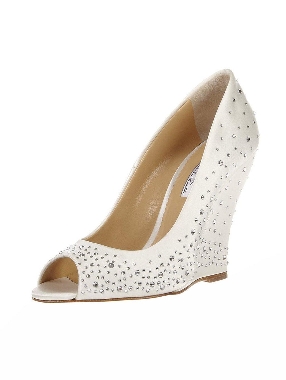Bridal Shoes Oscar De La A Wedding Heels White Satin Dorsay Tulle