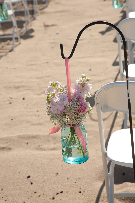 Things Brides Love Mason Jar Wedding Reception Decor Centerpieces Beach