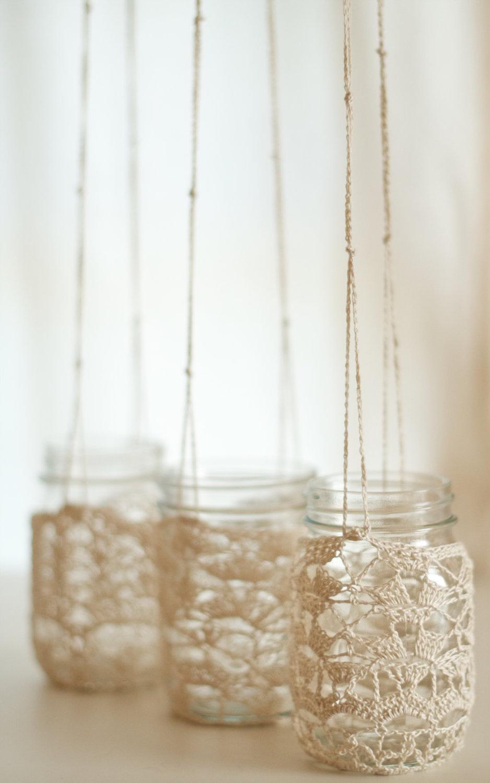 Things-brides-love-mason-jar-wedding-reception-decor-centerpieces-chrochet-chandelier.full