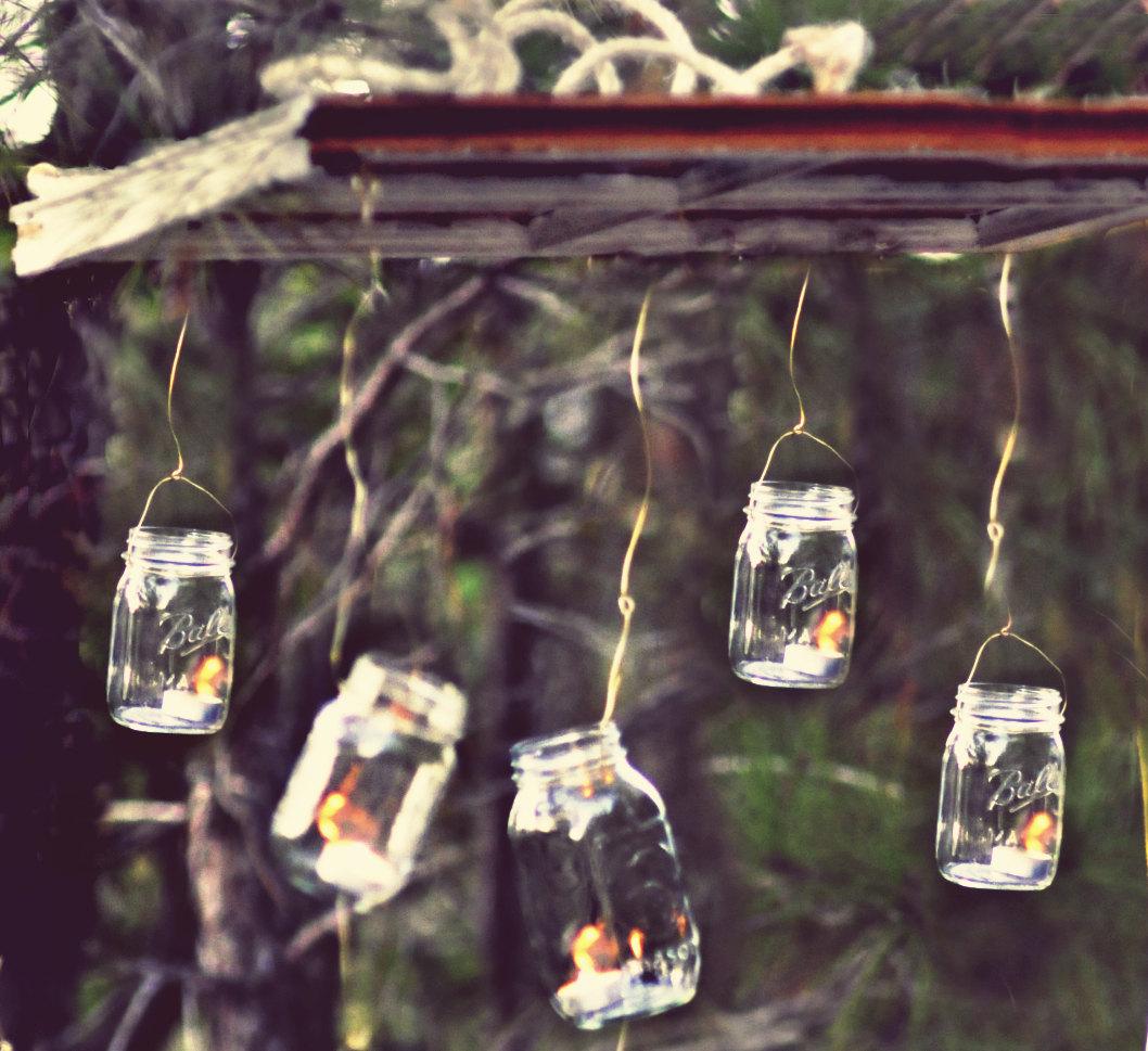 Mason Jars Rustic Wedding Decorations: Things Brides Love Mason Jar Wedding Reception Decor