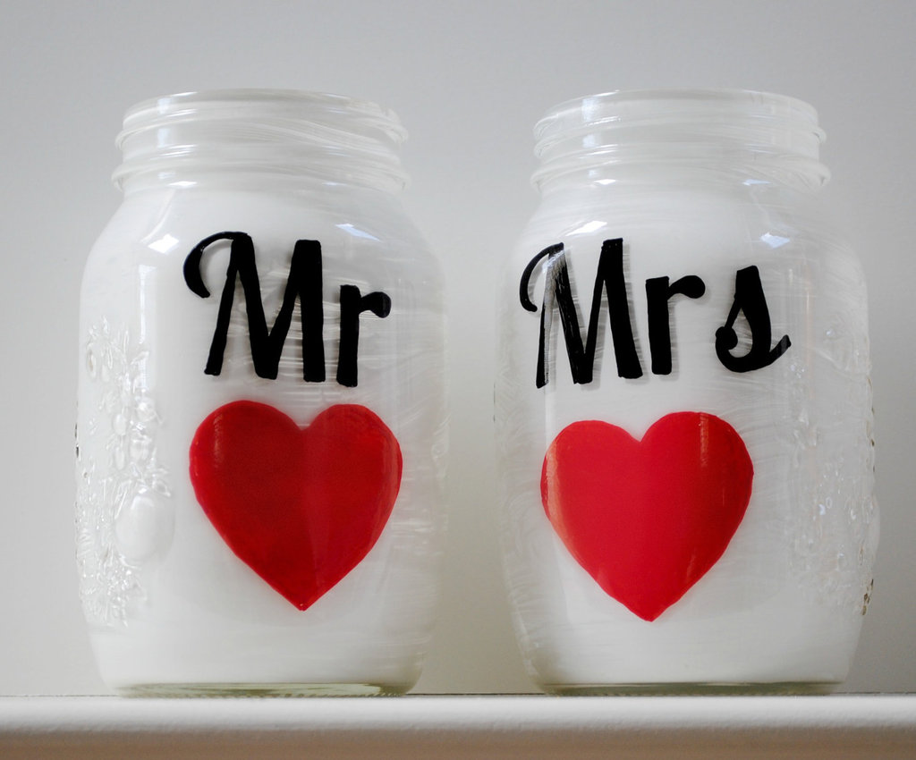 Things Brides Love Mason Jar Wedding Reception Decor Centerpieces Mr And Mrs