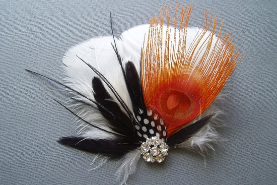 handmade wedding finds for Halloween themed I Dos bridal fascinator