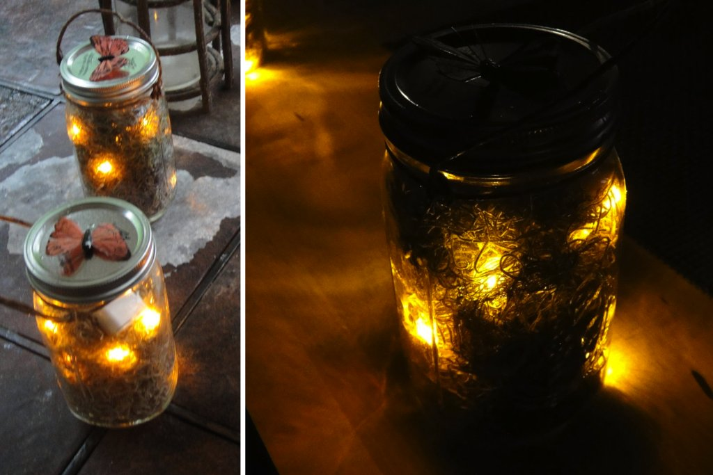 handmade wedding finds for Halloween themed I Dos mason jar luminaries
