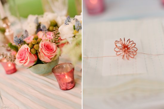 romantic outdoor wedding with Anthropologie inspired pink copper teal