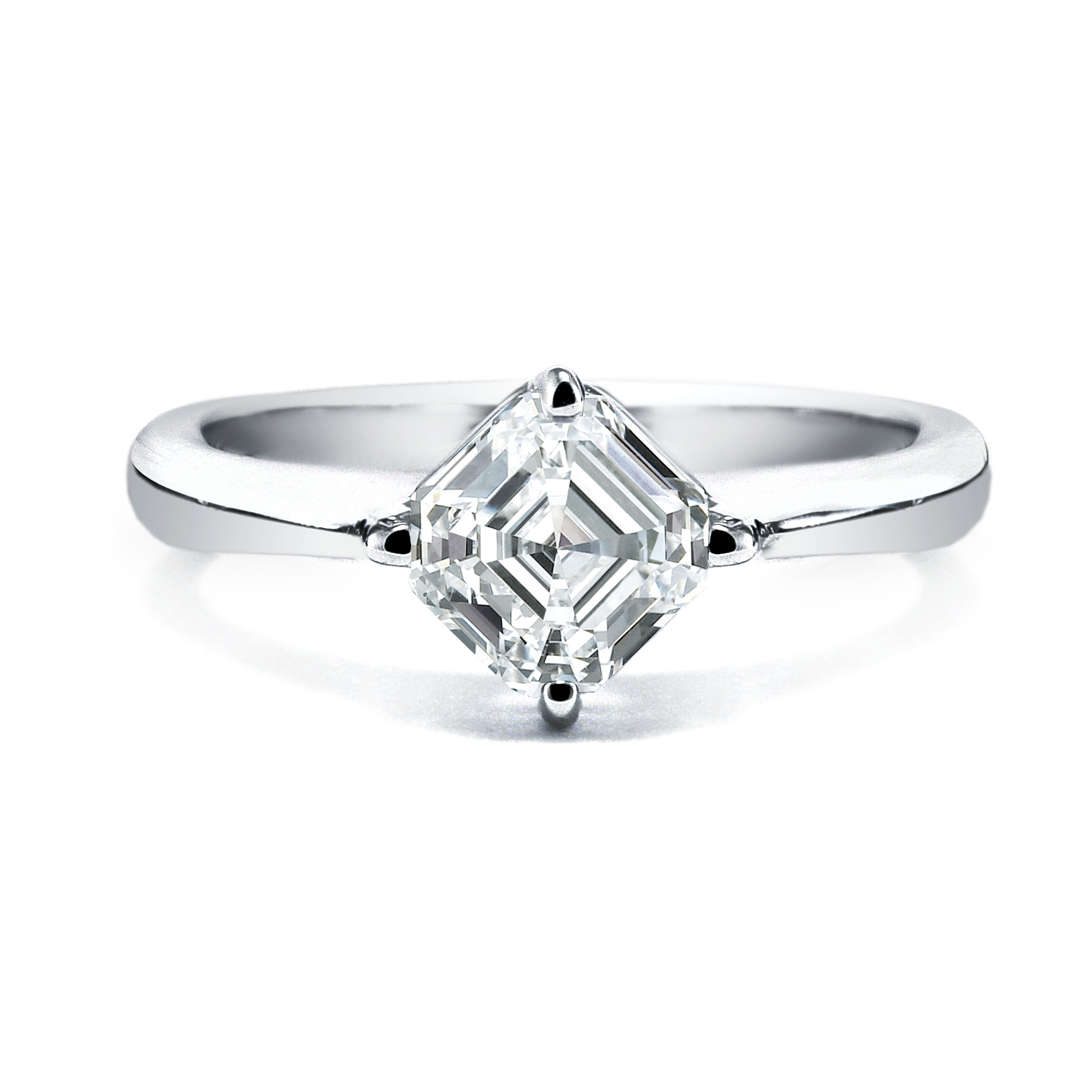 royal asscher engagement rings simple and classic