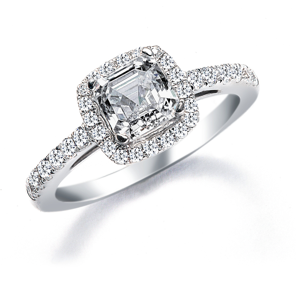Royal Asscher Engagement Ring, style RGR14705