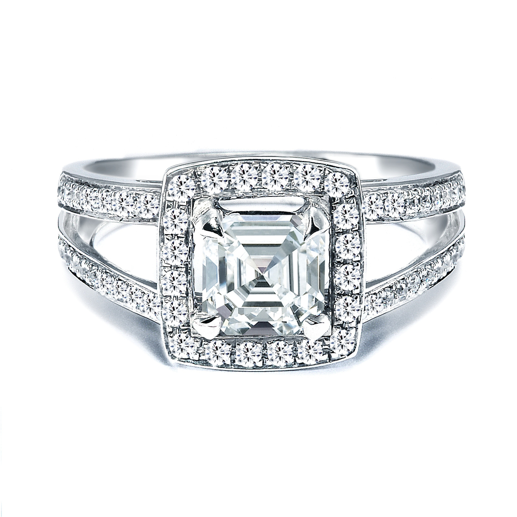 Royal Asscher Engagement Ring, style RGR14649