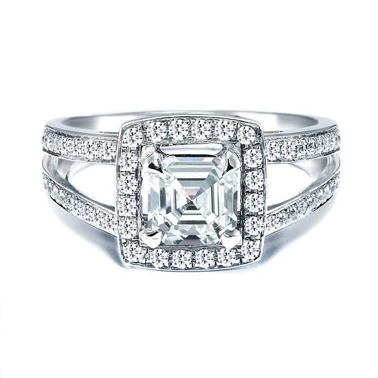 photo of Royal Asscher Engagement Ring, style RGR14649