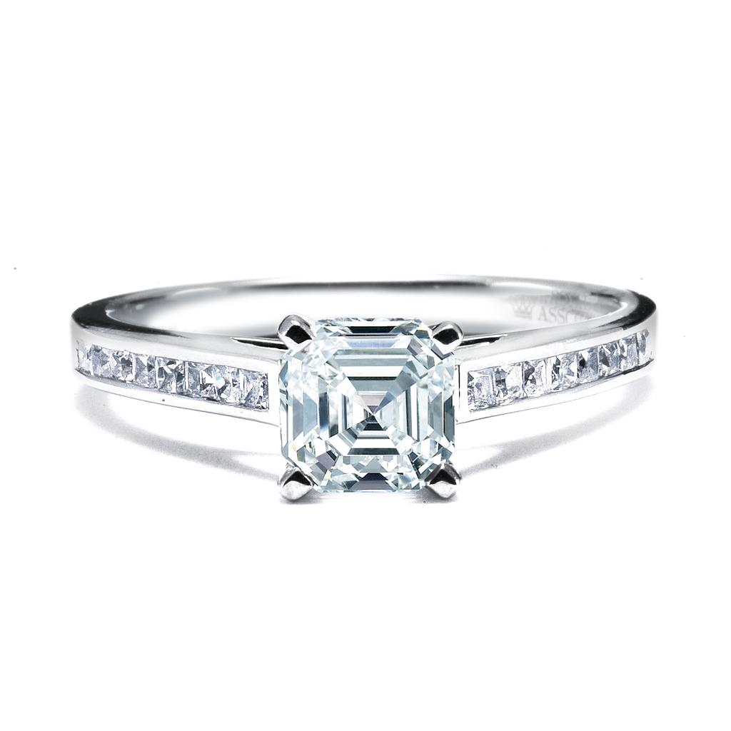Royal Asscher Engagement Rings, style PA-DER-1-136