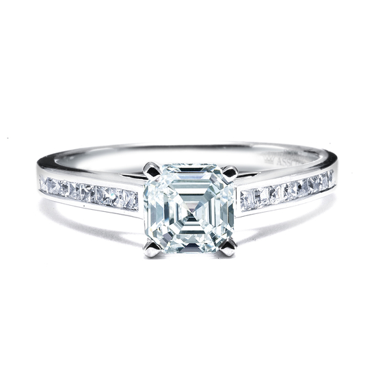 Royal Asscher Engagement Rings, style PA-DER-1-136